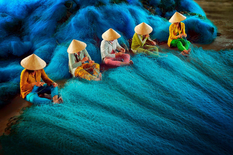 Плетение рыболовной сети